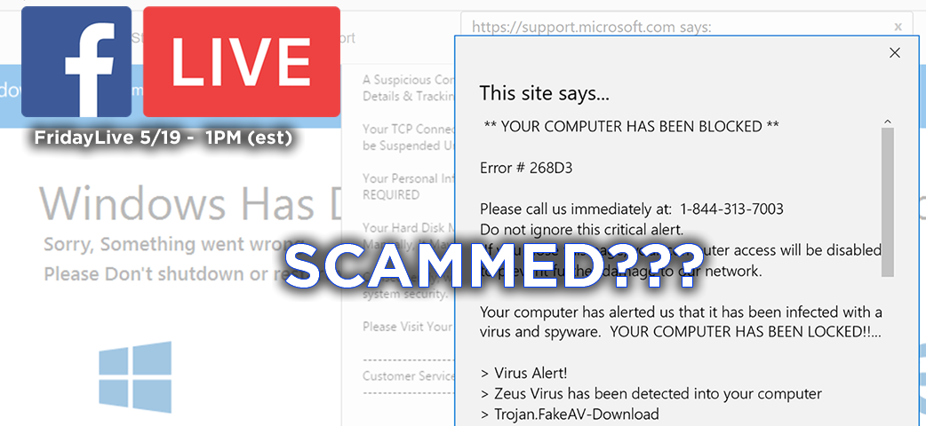 Episode #15 – Scammed – Don't Click That Link! What to do if your system is hacked – and I hope you backed it up!